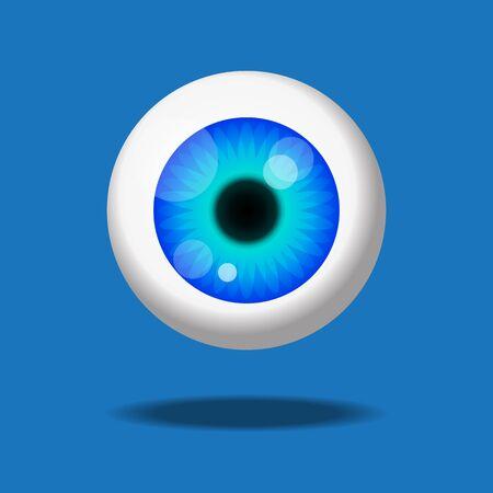 Ilustración de vector de icono de ojo.