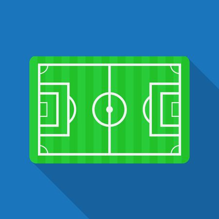 Football pitch,Soccer field vector
