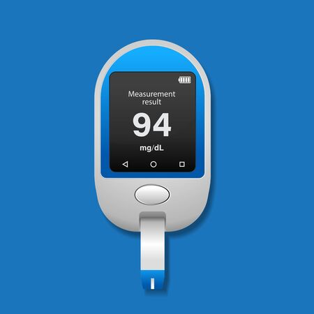 Diabetes icon vector illustration,Blood glucose meter. Ilustração