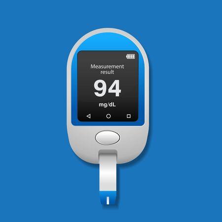 Diabetes icon vector illustration,Blood glucose meter. Illustration