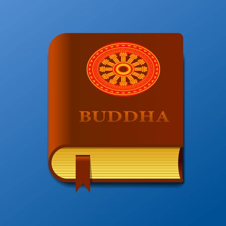 buddhist book vector illustration. Illustration