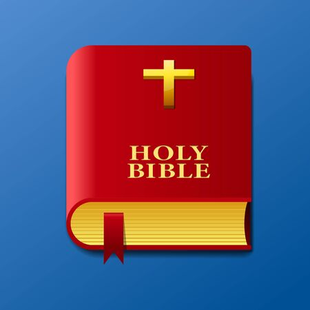 Holy bible icon vector illustration.