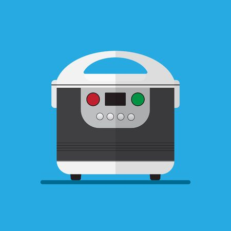 Electric rice cooker vector illustration.