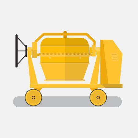 concrete mixer icon.