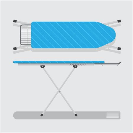 folded and unfolded ironing board vector flat design.