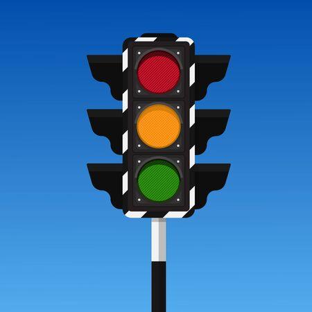 Ilustración de vector de semáforo.