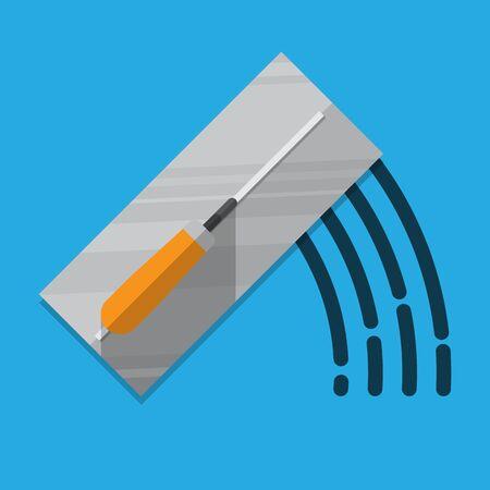 Trowel icon vector flat design.