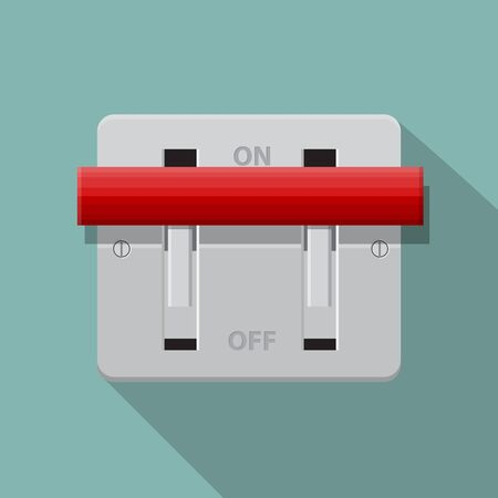 Breaker switch vector flat design.