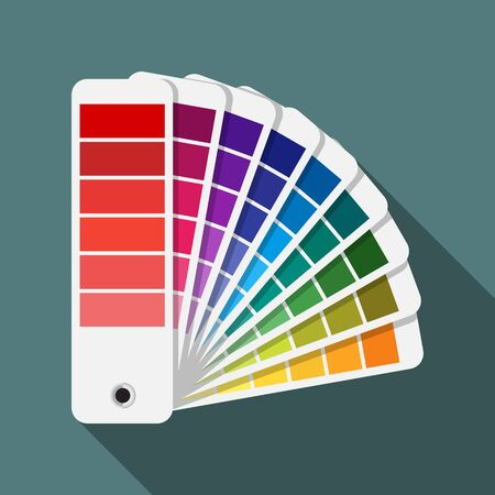 Color swatches palette vector icon. Illustration
