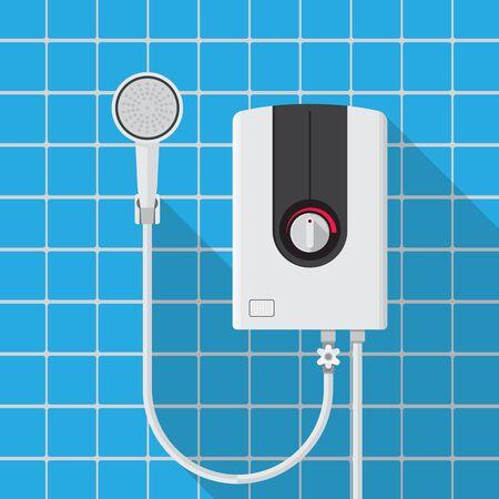 water heater vector flat design.