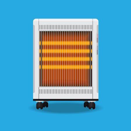 Flaches Design des elektrischen Heizungsvektors.