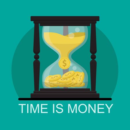 time is money concept,financial investments,money growth
