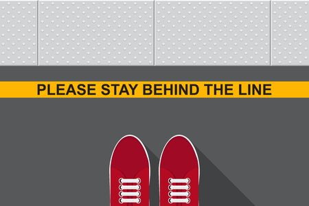 Please stay behind yellow line.
