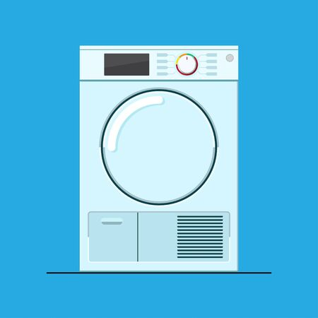 Condenser dryer machine vector flat design.
