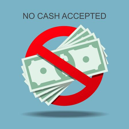 No cash accepted vector illustration.