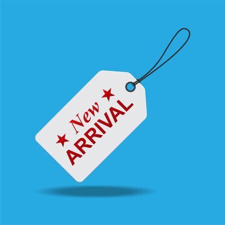 New arrival tag label vector illustration. Vektorové ilustrace