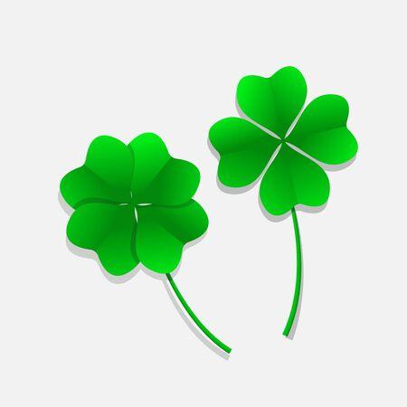 Four leaf clover icon vector illustration.