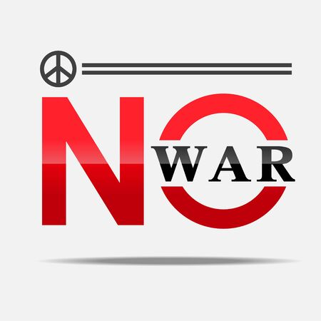 No war sign vector illustration.