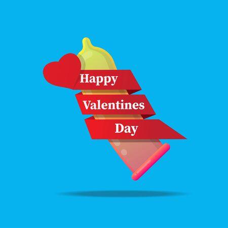 Happy valentines day concept vector illustration.