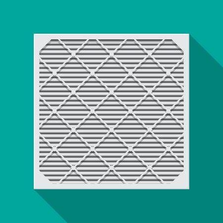 Air filter icon vector flat design.
