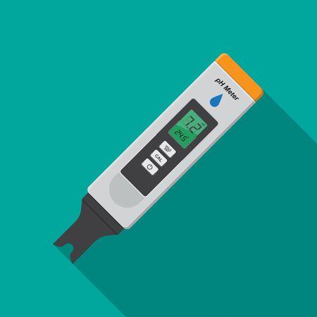 Digital pH Meter icon vector flat design.
