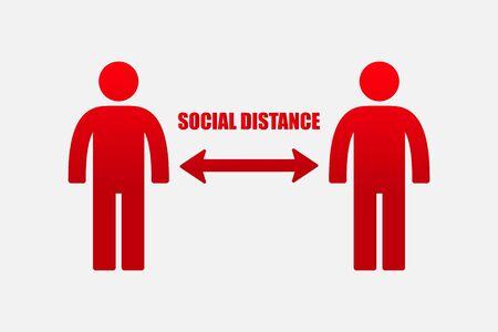 Social distancing icon vector illustration. Vektorgrafik