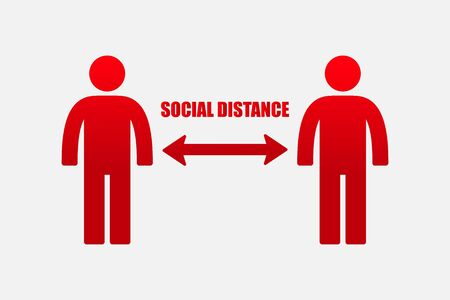 Social distancing icon vector illustration. 일러스트