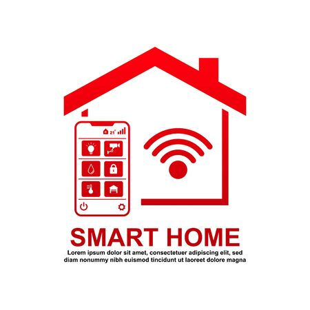 Smart home icon vector illustration.