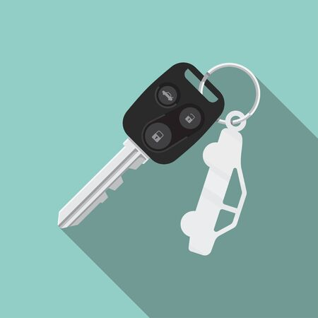Car key vector flat design isolated on background.