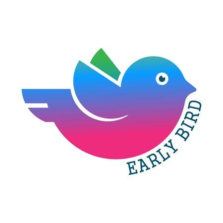 Early bird icon isolated on white background.