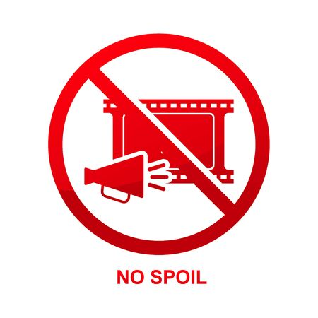No spoil sign isolated on white background vector illustration.