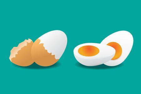 Boiled egg icon vector illustration.