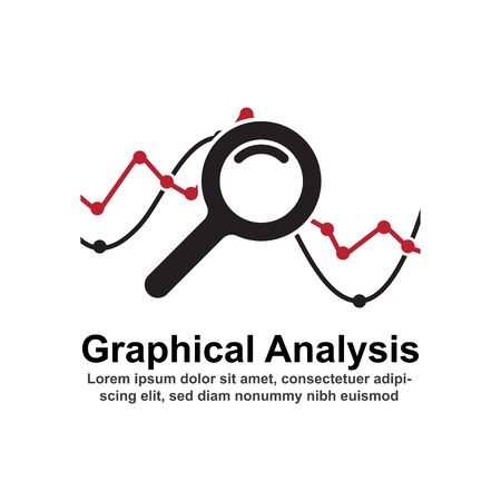 Graphical analysis concept vector illustration. Çizim