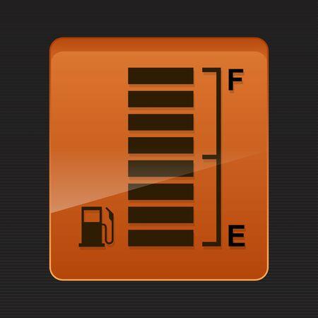 Full tank,digital fuel gauge vector illustration.