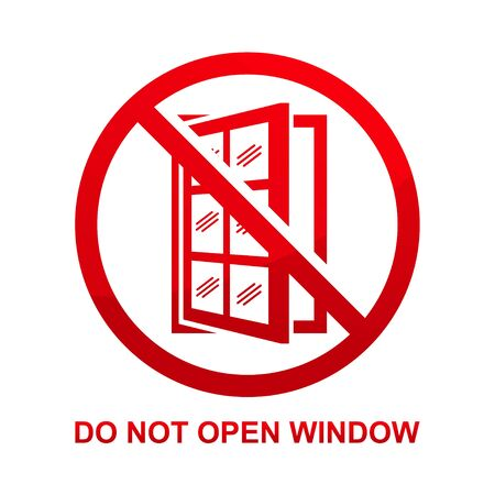 Do not open window sign isolated on white background vector illustration.  イラスト・ベクター素材