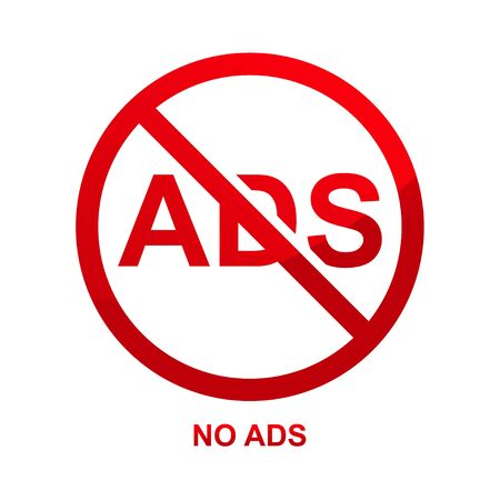 No ads sign isolated on white background vector illustration.  イラスト・ベクター素材
