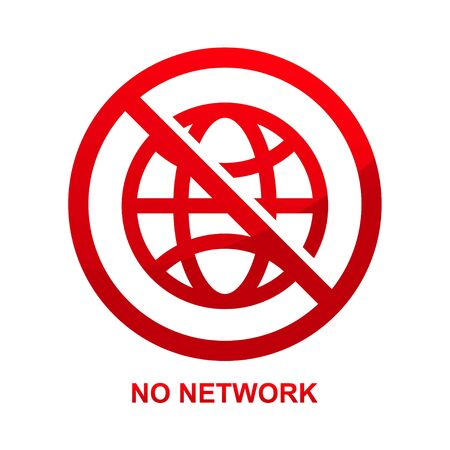 No network sign isolated on white background vector illustration.  イラスト・ベクター素材