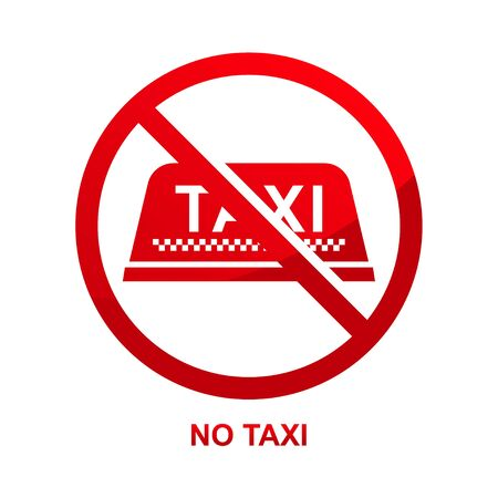 No taxi sign isolated on white background vector illustration.  イラスト・ベクター素材