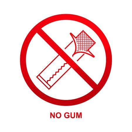 No gum sign isolated on white background vector illustration.  イラスト・ベクター素材