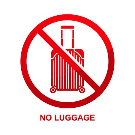 No luggage sign isolated on white background vector illustration.