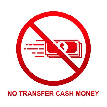 No transfer cash money sign isolated on white background vector illustration.  イラスト・ベクター素材