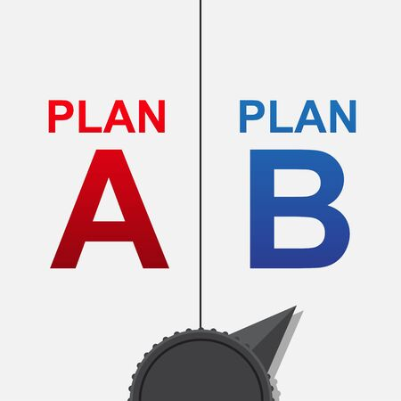 Plan A or Plan B selector vector illustration.