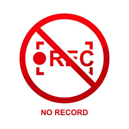 No record isolated on white background vector illustration.