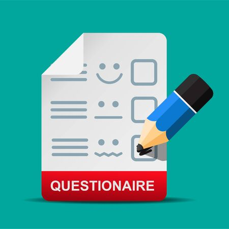 Questionnaire icon isolated on background vector illustration.  イラスト・ベクター素材