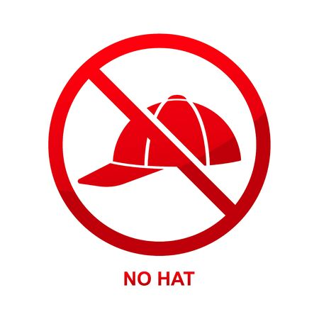 No hat sign isolated on white background vector illustration.  イラスト・ベクター素材