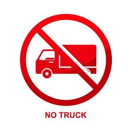 No truck sign isolated on white background vector illustration. Illustration