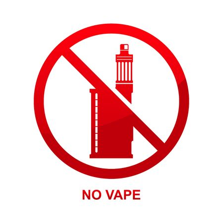 No vape sign isolated on white background vector illustration.