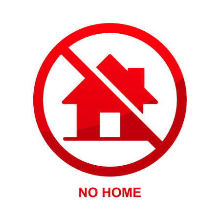 No home sign isolated no white background vector illustration.  イラスト・ベクター素材