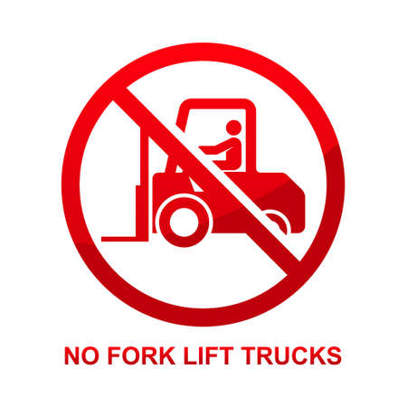 No fork lift trucks isolated on white background vector illustration  イラスト・ベクター素材