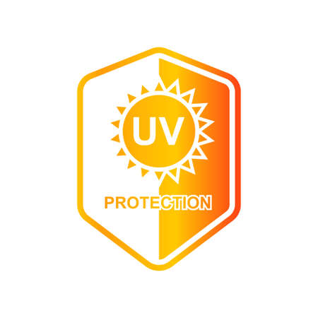 UV protection icon isolated on white background vector illustration.